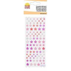 Crystal Sticker Stern klein rot 8X24CM / 1 Bogen