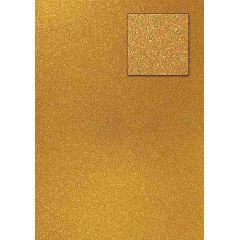 Glitterkarton, dunkelgold