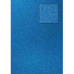 Glitterkarton, pfauenblau