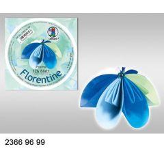 Faltblatt, Origami, Kusudama 10 cm rund blau-weiß-mint