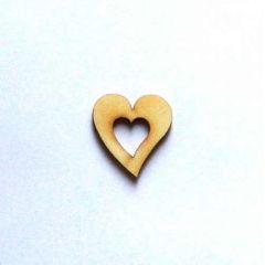 Holz Kleinteile Herz mit Herzausschnitt