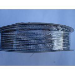Gummi-Kordel  3 mm silber