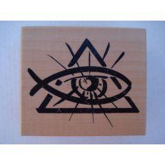 Motivstempel Auge im Dreieck