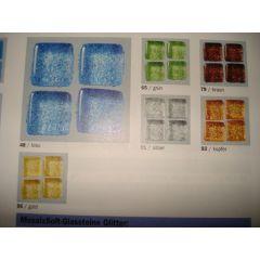 Mosaix Soft-Glassteine Glitter 20 x 20 mm grün