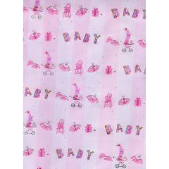 Prägepapier Baby  Geschenkpapier Baby rosa