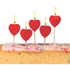 Kuchenkerzen Herz, aus Wachs