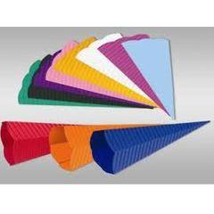 Schultütenzuschnitt Wellpappe verschiedene Farben 20x68 cm