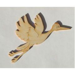 Storch fliegend Papier 60mm/12 Stück