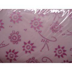 Transparentpapier weiß mit violetten Blüten