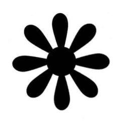 Hebel Figurstanzer Gänseblümchen 1,5X1,5CM