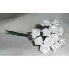 Satinröschen, 12 mm ø, weiß