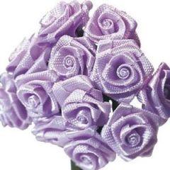 Satinröschen, 8 mm ø, lavendel