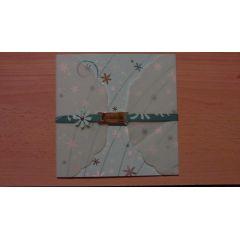 quadratische Einladungskarte Konfirmation Artozpapier