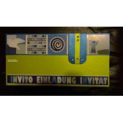 Einladungskarte Konfirmation; auch als Bastel-Set