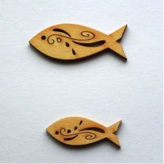 Holz Fisch Tribal