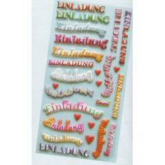 CREApop® Softy-Sticker Einladung