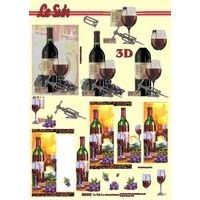 3D Wein metallic gestanzt