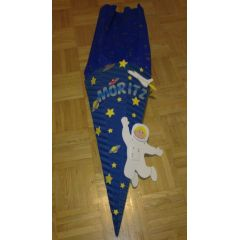 Jungen Schultüten Bastelset oder fertig gearbeitet Weltraum in Handarbeit für Sie hergestellt