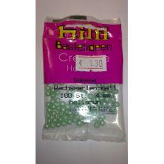 WACHSPERLEN 3mm,4mm oder 6mm hellgrün matt