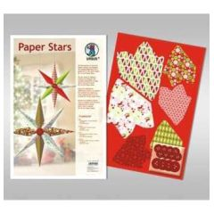 Paper Stars in rot Traditional