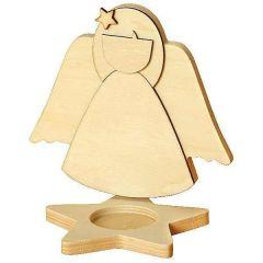 Teelichthalter 3D Engel