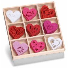 Filzbox Ornament Herzen