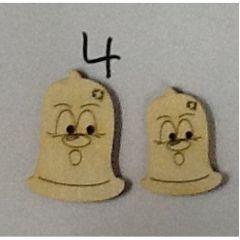 Holzknopf Kondomi Design 4