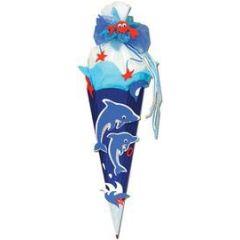 Schultüten Bastelset oder fertige Schultüte Delphin