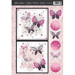 Bastelset zur Grußkartengestaltung Schmetterling