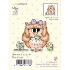 Stempel Eule Owl, Pipa at Party