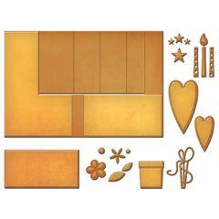 Spellbinder Card Creator Pop Up, Gift of Happiness, ~ ø 0,6 - 13,8 x 20,6 cm, 15 Stk.,