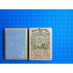 Stempel Mosaik Kreuz und Fisch 7 cm