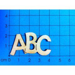 Holz Schriftzug ABC 40mm