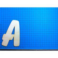 ABC Holzbuchstaben natur  Kleinteile gelasert 120mm