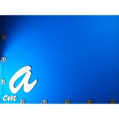 ABC Holz Kleinbuchstaben Schreibschrift 200mm natur