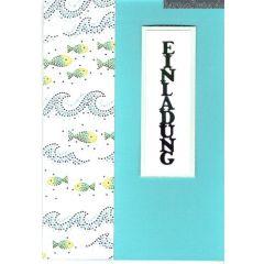 Kommunion Konfirmation handmade Karte Fisch mit Mosaikpapier