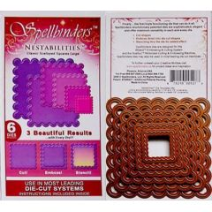 Spellbinders 6 Stanzformen Nestabilites Classic Scalloped Squares Large