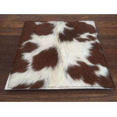 Sitzauflagen Kuhfell - Sitzkissen aus Filz mit Fell in braun-weiß