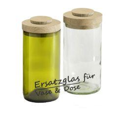 Ersatzglas für Vase & Dose, Glasvase aus einer Weinflasche