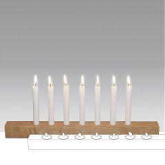 Brennholz - Kerzenhalter aus Holz für Stabkerzen und Teelichter