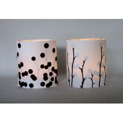 Licht und Schatten - Lichthüllen in schwarz-weiß für Teelichter