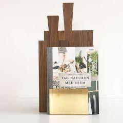Ständer für Bretter und Bücher aus Messing
