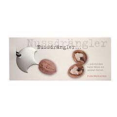 Weihnachtskarte mit Nuss-Drängler zum Öffnen von Walnüssen