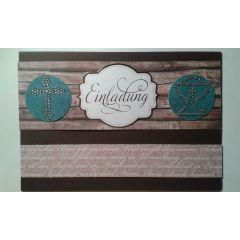 """Einladungskarte """" Glaubensbekenntnis"""" in handarbeit hergestellt oder als Bastel-Set zum selber gesta"""