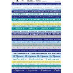 Schriftzüge Konfirmation magenta oder blau