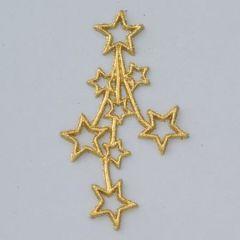 Wachsdekor, Sternenfeuerwerk, 50 x 90 mm, 1 Stk., gold glitter