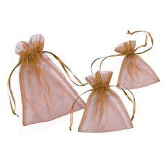CREApop® Organza-Säckchen kupfer 8 x 10 cm, Beutel a 12 Stück