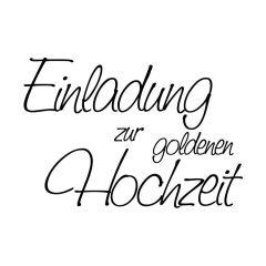 Stempel 'Einladung zur goldenen Hochzeit'