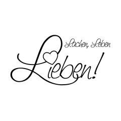 """Stempel """"Lachen, Leben, Lieben"""""""