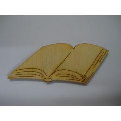 Holzteil-Buch aufgeschlagen oder geschlossen